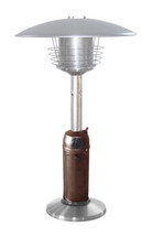 """TFPS Patio Heaters 39"""" Tall Table Top - Hammered Bronze Stainless Steel Patio Heater - TFPS-HLDS032-BB"""