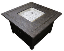TFPS 40 Inch Square with Faux Stone Table Top Fire Pit Table