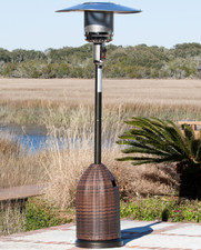 Fire Sense Well Traveled Living All Weather Wicker Patio Heater
