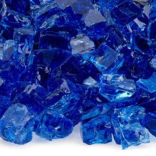 1/2 inch Cobalt Reflecting Premium Fire Glass