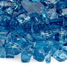 1/2 inch Pacific Blue Classic Fire Glass