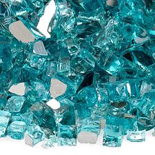 1/4 inch Azuria Reflecting Premium Fire Glass