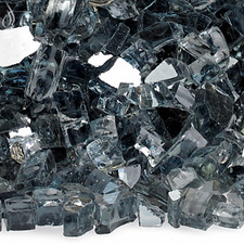 1/4 inch Gray Reflecting Premium Fire Glass