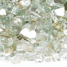 1/4 inch Platinum Reflecting Premium Fire Glass