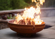 """Fire Pit Art Emperor 36"""" Low Profile Wood Burning Fire Pit"""