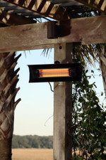 Fire Sense Well Traveled Living Black Steel Wall Mounted Infrared Patio Heater