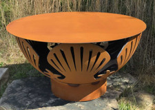 """Fire Pit Art Steel Table Top - 40"""" does not include fire pit 1"""
