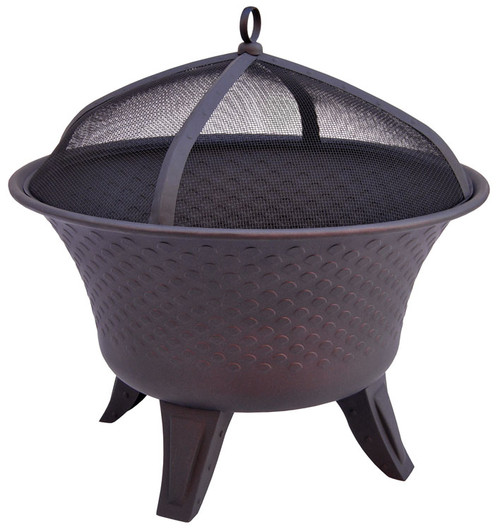 Landmann The Bella Fire Pit Sturdy Steel Construction with Speckled Bronze Finish