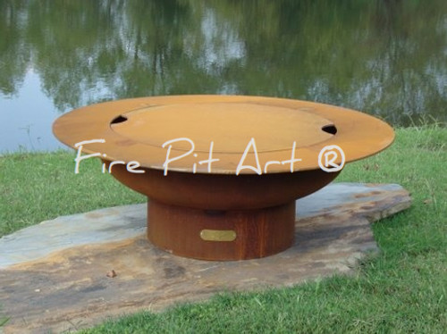 """Fire Pit Art - Cover Only For The 40"""" Saturn - Rings In The Sky"""