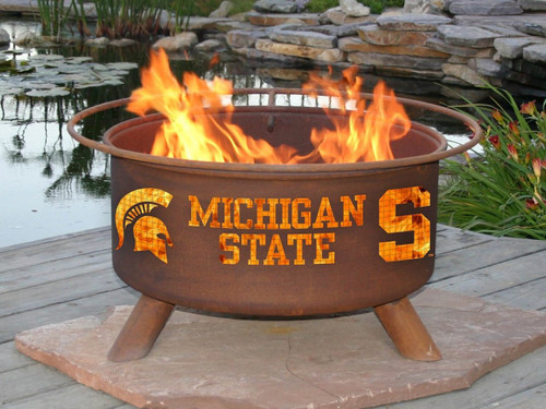 atina Products - Michigan State University College Fire Pit - F403