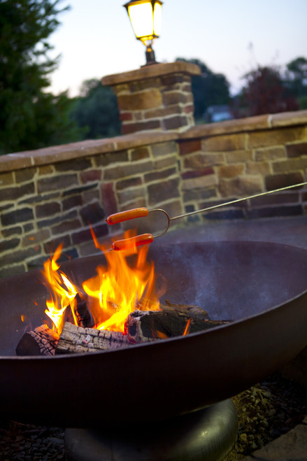 """Ohio Flame Patriot 42"""" Diameter Fire Pit Natural Steel - OF42FPNSF"""