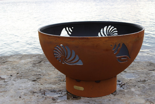 """Fire Pit Art Beachcomber 36"""" Natural Gas or Propane Fire Pit 1"""