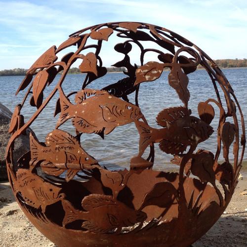 Fireball Fire Pits - Fish - 37.5 inch Fire Globe 1
