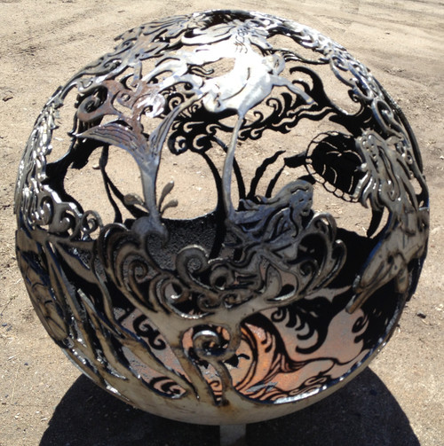 Fireball Fire Pits - Mermaid - 37.5 inch Fire Globe