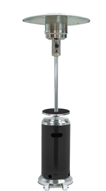 """TFPS Patio Heaters 87"""" Two Tone Outdoor Patio Heater with Table Black & Stainless Steel - HLDS01-SSBLT  3"""