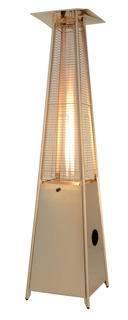 """TFPS Patio Heaters 91"""" Tall Commercial Triangle Glass Tube Heater - Stainless Steel Patio Heater - TFPS-HLDS01-GTSS"""