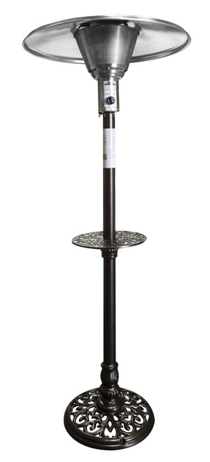 "TFPS Patio Heaters 87"" Tall Outdoor Natural Gas Hammered Bronze Cast Aluminum Patio Heater - TFPS-NG-CAL"
