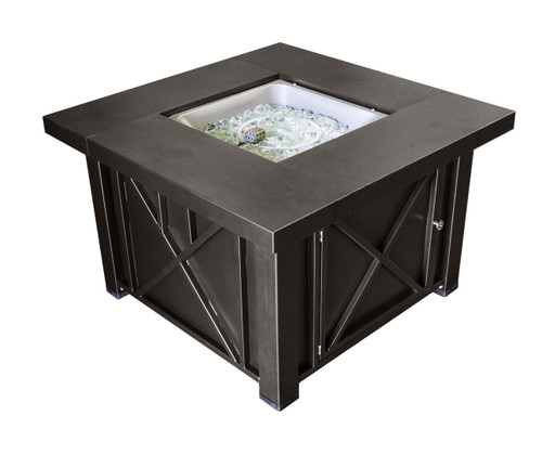 TFPS Square Decorative Steel Bronze Fire Pit Table