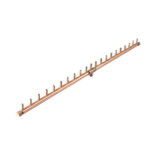 "Warming Trends Crossfire 190K BTU Linear Brass 42"" Burner"