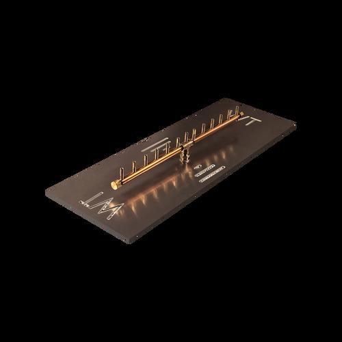 "Warming Trends Crossfire 130K BTU Linear Brass 26"" Burner System - Pan - Key Valve Kit"