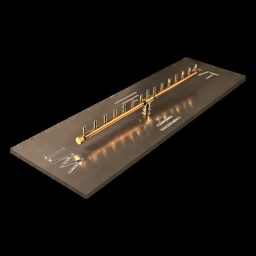"Warming Trends Crossfire 150K BTU Linear Brass 30"" Burner System - Pan - Key Valve Kit"