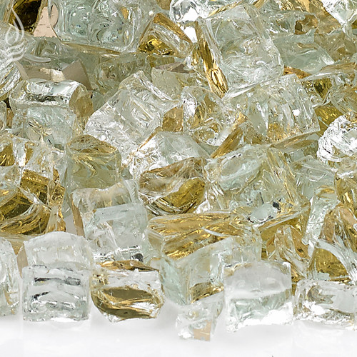 1/2 inch Gold Reflecting Premium Fire Glass