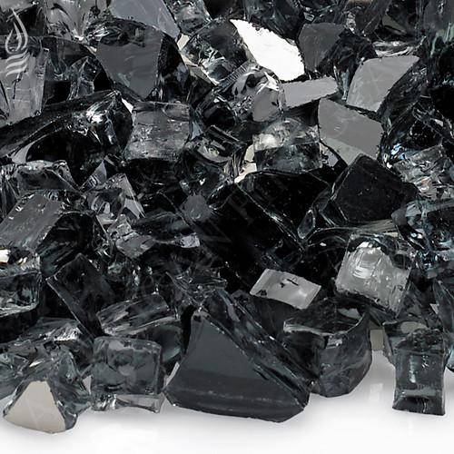 1/2 inch Gray Reflecting Premium Fire Glass