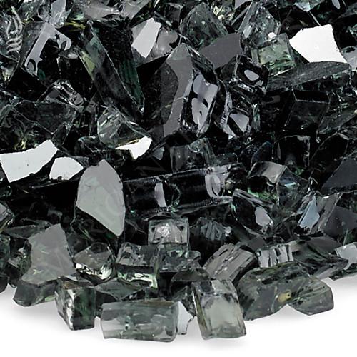 1/4 inch Black Reflecting Premium Fire Glass