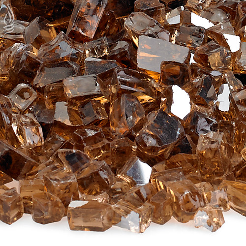 1/4 inch Copper Reflecting Premium Fire Glass