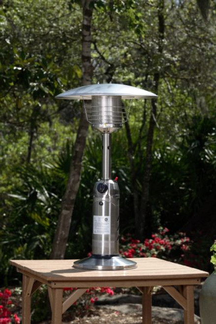 Fire Sense Well Traveled Living Stainless Steel Table Top Patio Heater