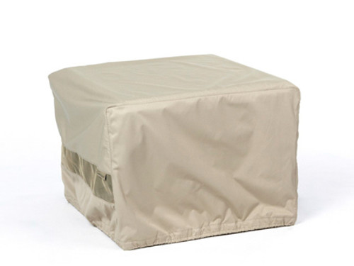 Square Fire Pit Cover - Durable Khaki - 38 inches x 38 inches x 20 inches 2