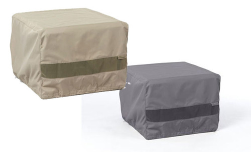 Square Fire Pit Cover - Durable Khaki or Charcoal - 30 inches x 30 inches x 18 inches