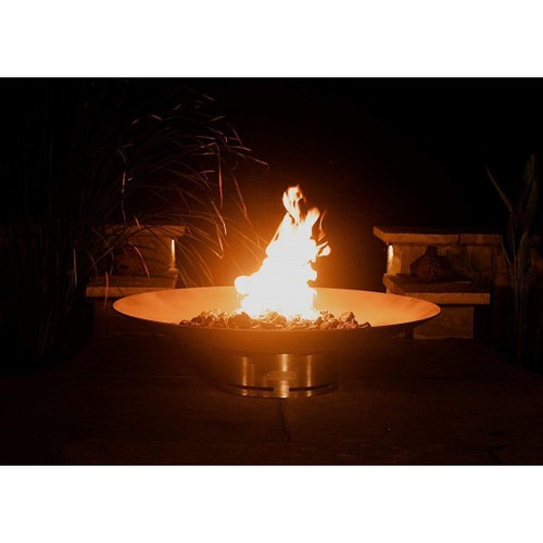 """Fire Pit Art Bella Vita 70"""" Stainless Steel Natural Gas or LP Gas Fire Pit - BV70GAS"""