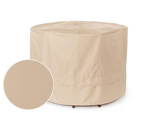 Round Fire Pit Cover - Durable Khaki or Charcoal - 72 inches - 401