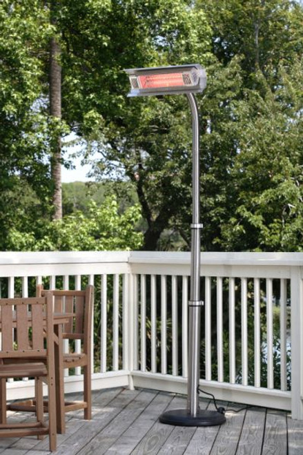 Fire Sense Well Traveled Living Stainless Steel Telescoping Offset Pole Mounted Infrared Patio Heater