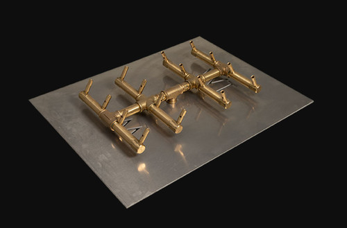 Warming Trends  CFBDT160 Double Tree-Style CROSSFIRE™ Brass Burner System  Natural Gas or LP CFBDT160NGALPL2217FLKV34FIT180