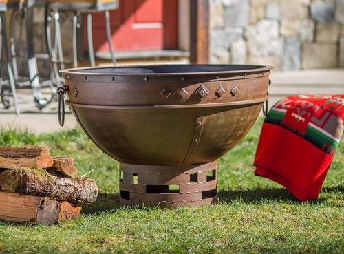 Greek Brazier Fire Pit - 37 inch Wood Burning Fire Bowl 1