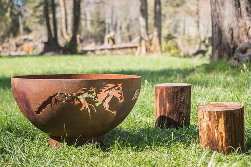 Horsin' Around Fire Pit - 37 inch Wood Burning Fire Bowl 6