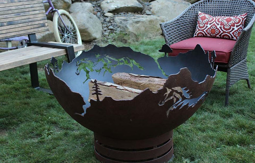 Mustang Freedom Fire Pit - 37 inch Wood Burning Fire Bowl 1