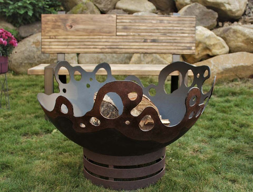 Riptide Fire Pit - 37 inch Wood Burning Fire Bowl