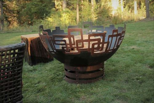 Prevailing Links Fire Pit - 37 inch Wood Burning Fire Bowl 2
