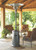 """TFPS Patio Heaters 87'"""" Hammered Silver Patio Heater with Table - TFPS-HLDS01-CBT"""