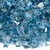 1/4 inch Pacific Blue Reflecting Premium Fire Glass