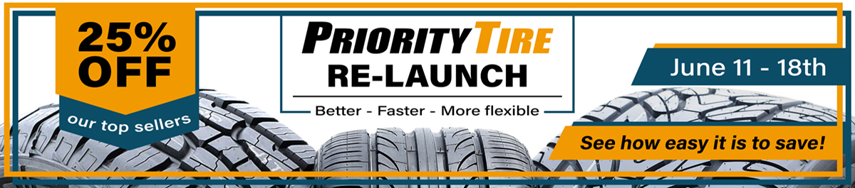 Priority Tire Re-Launch Sale