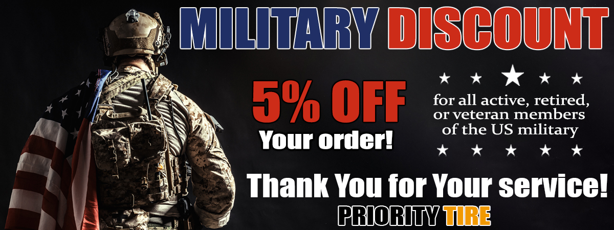 military discount Priority Tire