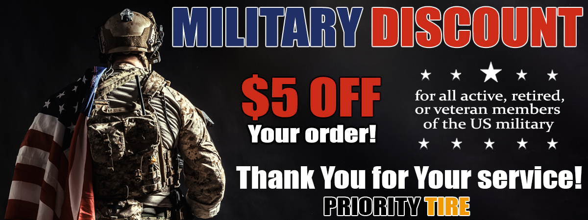 Military and Veteran Discounts at Prioritytire.com