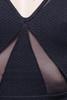 bodycon dress black mesh zipper back S M L