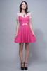 skater dress pink fuschia cutout illusion lace S M L