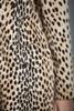 vintage 60s leopard faux fur coat winter coat MEDIUM LARGE M L