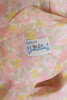 pintuck shirt dress pale pink floral print short sleeves vintage 60s MEDIUM M